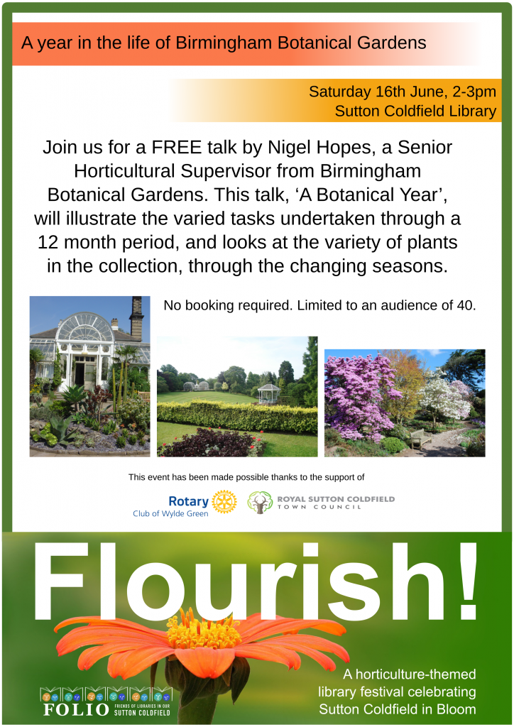 ... Botanical Gardens. This Talk, U0027A Botanical Yearu0027, Will Illustrate The  Varied Tasks Undertaken Through A 12 Month Period, And Looks At The Variety  Of ...
